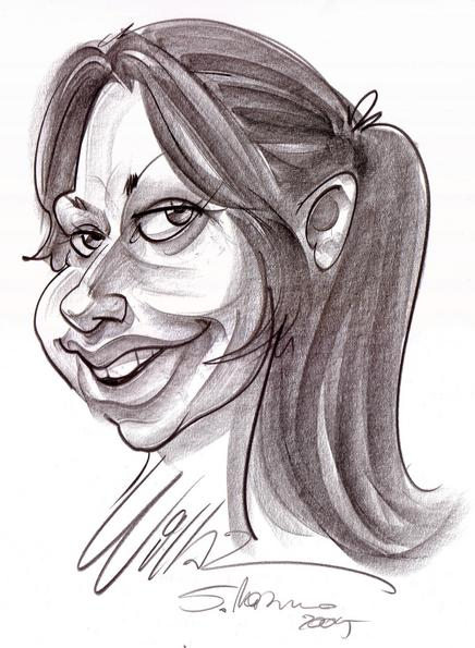 Maria Mösl caricature My wife saw herself caricatured as a girl having still her dreams and ideals and not becomes marshy in the ''nothing is possible'' reality of grown up people.